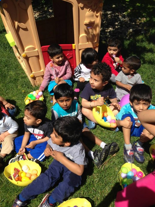Easter Egg Hunt 2014 – in our own park like lot this time!